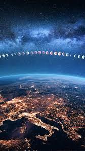 Earth Lunar Eclipse iPhone Wallpaper ...