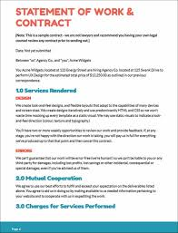 It Statement Of Work Statement Of Work Sample Uxesign Proposal And Contract Template For