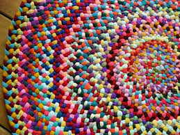 made to order colorful braided round rug in upcycled cotton colorful round outdoor rugs
