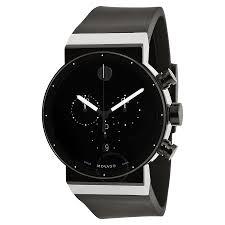 movado sapphire synergy black dial chronograph men s watch 0606501