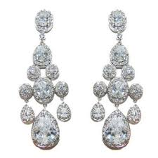 ariana clear vintage sassy chandelier statement earrings cubic