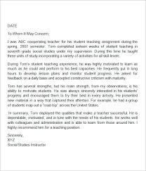 Generic Letter Of Recommendation Sample Letters Of Recommendation Teacher Radiovkm Tk