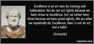 Aristotle Excellence Quote Extraordinary Charming Life Pattern Aristotle Quote Excellence Is An Art Won