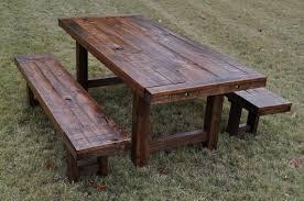 excellent rustic wood outdoor furniture image design patio amazing wooden outdoor table bunnings wooden outdoor table