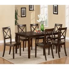 east west furniture cabos cappuccino 7 piece dining set with dining table
