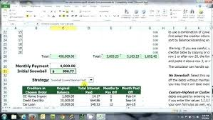 Debt Calculator Excel Debt Payment Calculator Excel Multiple Credit Card Payoff Calculator