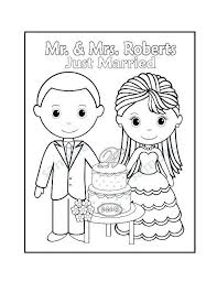 Free Printable Personalized Wedding Coloring Book Color Online 30904