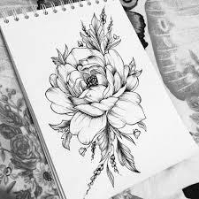 эскиз тату цветы эскизы для тату By Sofatatu эскиз тату идеи