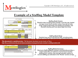 Staffing Model Template Robust Production Management Rpm Module 5 Staffing Models Pdf