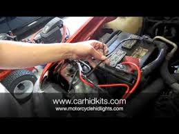 hid kit relay install youtube hid relay harness diy at Hid Kit Wiring Harness
