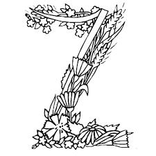Alphabet Drawing Letter Coloring Book Kleurplaat Flower 500500