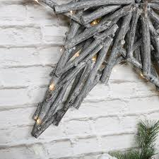 large wicker star wall decoration