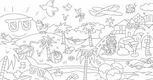 ほとんどのダウンロード 塗り絵 夏 子供と大人のための無料印刷可能な