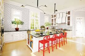 Kitchens With Cherry Cabinets Extraordinary 48 Kitchens With Colorful Accents Photos Architectural Digest