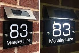 personalised solar light door sign