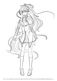 Small Picture How to Draw Akeno Himejima from High School DxD printable step by