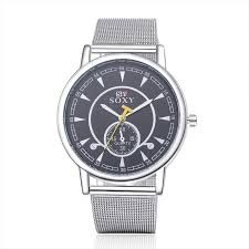<b>Fashion</b> Brand SOXY <b>Watches Men Business Watch</b> Stainless Steel ...