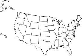 Small Picture Map of the United States with title and states Coloring Page