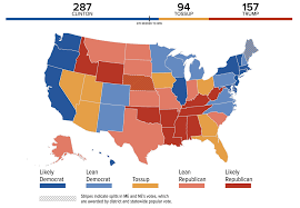 trump's battleground map makes rosy assessments of tossup states