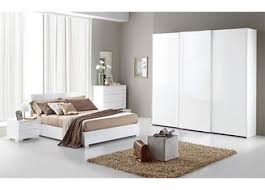 Contemporary White High Gloss Bedroom Furniture Sets 3 Door Sliding ...