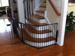 elegant black baby safety gate for stairs design ideas with curved