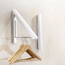 2018 foldable wall mount clothes hanger space aluminum towel drying coat hanger holder with 2 racks space saving folding hangers from lumeix