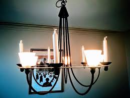ikea lerdal chandelier ceiling light black metal fittings for electric bulbs candles