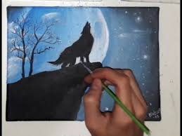 wolf howling painting. Interesting Painting For Wolf Howling Painting N