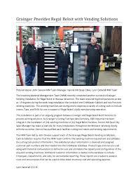 Grainger Vending Machines Inspiration Regal Beloit Article