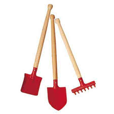 child s garden tool set 3 pts red