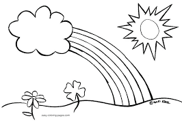 Easy Coloring Pages Of Flowers Color Sheets For Spring Interesting