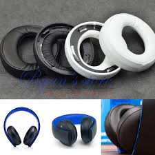 sony gold wireless headset. original replacement ear pads cushion pillow for sony gold wireless headset ps3 ps4 7.1 virtual surround sony