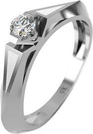 Помолвочное <b>кольцо</b> из белого золота <b>Graf Кольцов KP</b>-<b>15</b>/<b>B</b> с ...