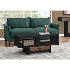 brown coffee table with storage faye