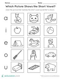 Free, printable short vowel sounds activity sheets for children in kindergarten and first grade. Short Vowels Printable Worksheets Education Com