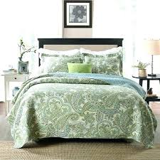 oversized queen duvet cover cotton green paisley printed bedding set luxury quilt soft white