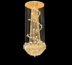 modern hotel lobby hanging crystal chandelier light 1