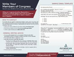 Write Your Congressional Member Letter Template | Accesslex