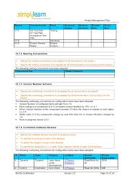 Project Schedule Management Plan Template Project Management Plan Template