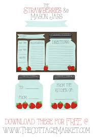 Recipe Labels Free Printable Mason Jar Recipe Cards And Matching Gift Tags