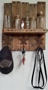Key Coat Rack Beautiful Pallet Handmade Rustic KeyCoat Rack With Decorative Stars 39