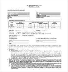 automatic withdrawal form template membership agreement form template gym contract template 14 free