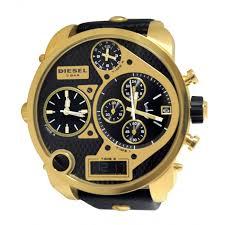 dz7323 mr daddy gold chronograph date dial black leather men watch new diesel dz7323 mr daddy gold chronograph date dial black leather men watch new