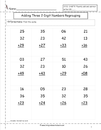 Two Digit Addition Worksheetstwo digit addition worksheet Two Digit Addition With Regrouping-Three Numbers