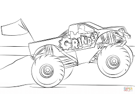 Grave Digger Coloring Pages Coloring Pages