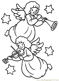 Small Picture Christmas Angel Coloring Page 04 Coloring Page Free Angel