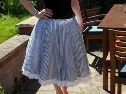Light Blue Striped Skirt Vintage 1950s Original Blue And White Stripe Circle Skirt