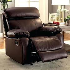 furniture of transitional brown leather glider recliner simon li reviews