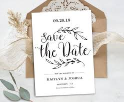 Save The Date Cards Template Printable Save The Date Card Template Kraft Save The Date