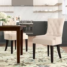 nfusion side upholstered dining chair set of 2